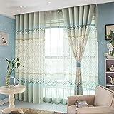Stampa tende in cotone e lino gestreiften Tende Moderne minimalista Tende 270cm x 140cm (H x W  Camera da letto soggiorno