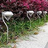 Fengge 4pcs Außen Solar getrunken LED Stromversorgung durch die Mauer Landschaft US US Garden Mount Fence Lampe