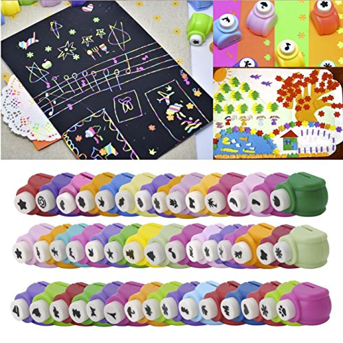 Magicwand DIY Art & Craft Punch Kit For School Projects (12 Pcs...