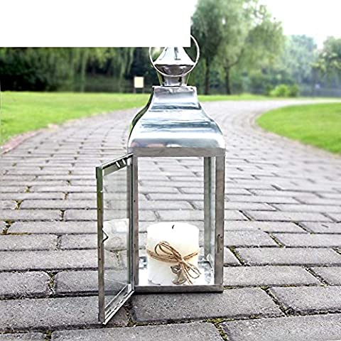 Stainless steel glass Lantern/ lantern/ outdoor patio candle holder