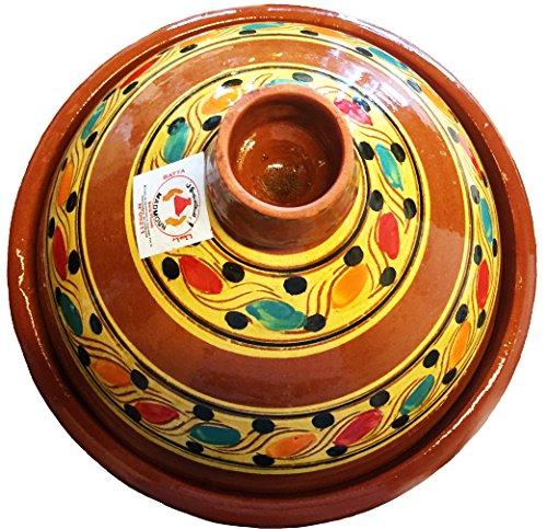 marocstore Echte Marokkanische Tajine zum Kochen Ø 30 cm 4-5 Personen
