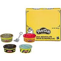 Play-Doh Wheels – 4 Pots de Pate A Modeler - Couleurs Matériaux de Construction - 224 g chacun