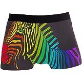 JIRT Boxer da Uomo Slip Colorati a Strisce Arcobaleno Zebra Intimo Maschile Traspirante Elasticizzato Tronchi Rigonfiamento M
