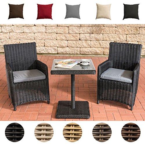CLP Garten-Sitzgruppe PALERMO aus Polyrattan | Robuste Gartengarnitur mit Aluminiumgestell |...