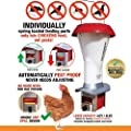 Rattensicherer Geflügel-Futterspender mit Schädlingsabwehr - Geflügel-Futterspender sicher vor Ratten und Großvögeln - Wetterfest - 4 l / 3,6 kg - Brandneu von Roamwild bei Du und dein Garten