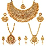 #5: Apara Necklace and Long Mala Jewellery Combo with Pearl For Women