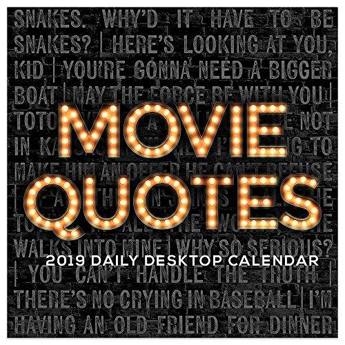 Movie Quotes 2019 Desk Calendar