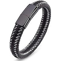 SaDiao Handmade Echtleder Armband für Unisex | Verschiedene Längen Magnetverschluss aus Edelstahl | Tolles Geschenk für…