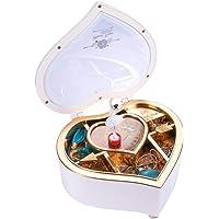 HooAMI Schmuckkästchen mit Drehender Ballerina Mädchen Spieluhr Schmuckschatulle Herz Aufbewahrungsbox Schmuckbox für…