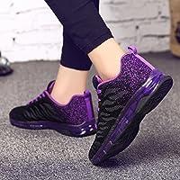 Zapatos de deporte para mujer,Sonnena Volar zapatos tejidos Zapatillas de deporte con cojines de aire Calzado de running Net para estudiante