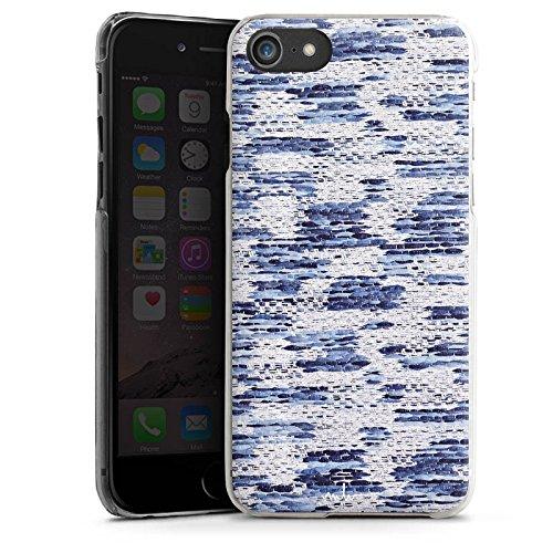 Apple iPhone X Silikon Hülle Case Schutzhülle Stoff Mode Muster Hard Case transparent
