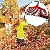 SNIIA Cabezal de herramientas para el cuidado del césped con rastrillo de hojas de cambio múltiple de kaersishop, con dientes de plástico robustos, cabezal de plástico, rojo realistic kindhearted