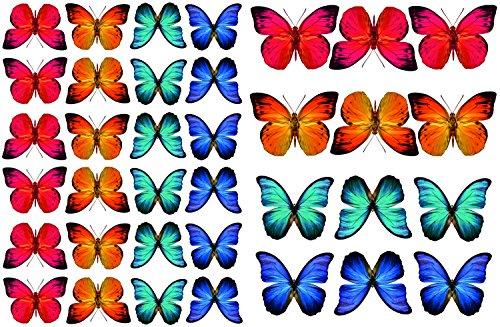 Stickers4 Schmetterlings- Fensteraufkleber zum Schutz gegen Vogelschlag - 36 schöne Schmetterlings- Glasaufkleber, doppelseitig und selbstklebend zum Schutz gegen Vogelkollisionen