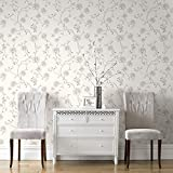 Superfresco Easy Paste The Wall Rose Floral Champagne Glitter Wallpaper 101848