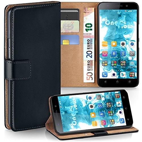 moex Huawei Honor 4X   Hülle Schwarz mit Karten-Fach 360° Book Klapp-Hülle Handytasche Kunst-Leder Handyhülle für Honor 4X Case Flip Cover Schutzhülle Tasche