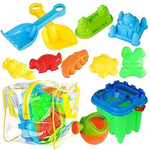 BRAMBLE! Juego DE 13 Juguetes de Playa - Ideales para un Día en la Playa - Incluye Bolsa de Malla y Bolsa de PVC Resistente