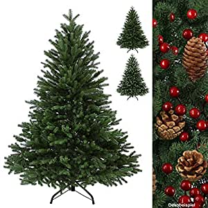 Albero di Natale artificiale di lusso WINTERZAUBER in polietilene Abete in 5 misure 100 % pressofusione, Colore:verde scuro;länge in cm:180 cm (1.030 punte)