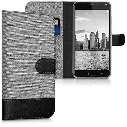 kwmobile ASUS Zenfone 4 Max Pro ZC554KL Hülle - Kunstleder Wallet Case für ASUS Zenfone 4 Max Pro ZC554KL mit Kartenfächern und Stand