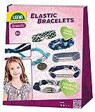 Lena 42651 - Bastelset Elastic Bracelets, Komplettset zum Basteln von 4 Armbändern mit 4 elastischen Bändern, 15 Perlen und 5 Anhänger aus Metall, Schmuckbastelset für Kinder ab 6 Jahre
