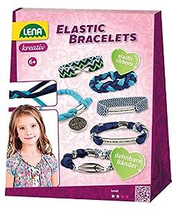 Lena 42651Elastic Bracelets Juego de Manualidades, Multicolor