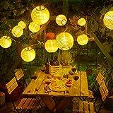 OxyLED Solar Lichterkette Lampions,6m 30 LED Lampions Laterne Lichterkette,Solar Lichterkette Außen Garten Außenbeleuchtung Wasserdicht IP65 für draussen,Garten, Hochzeit,Party,Weihnachten