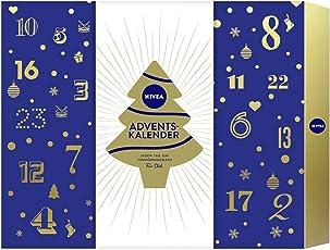 NIVEA Adventskalender 2018 für 24 Verwöhnmomente, Weihnachtskalender mit ausgewählten Pflegeprodukten, Pflegeset für die Adventszeit