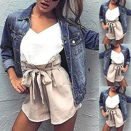 DIKEWANG Womens Mid Wash Denim Long Sleeve Jacket Faded Ripped Fitted Vintage Boyfriend Oversized Coat UK 6-14