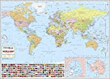 #8: World Wall Map - Synthetic (132 x 94 cm)