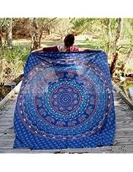 WDBS Serviette de plage ronde / tapis de yoga / manteau solaire plage écharpe châle / jupe