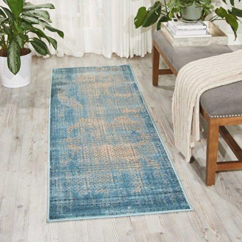 NOURISON Teppich Mondrian KRM01Karma Runner, blau, 99446268921 - Blue - Nourison Teppich Blau