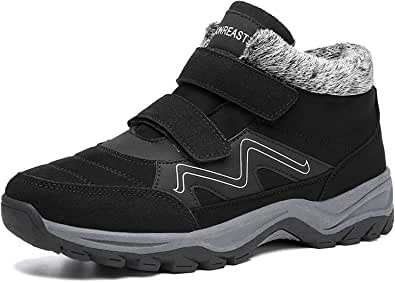 visionreast Winter Boots Men Women Trekking Boots Warm Padded Snow Boots Hiking Boots Winter Boots Non-slip Boots Outdoor shoes with Elastic Laces