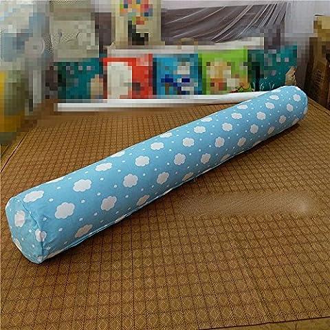 Zylindrische lange große Schlafkissen Schelle um die reine Baumwolle Köpfe zurück Pad aus dem Sofa Betten in den Vereinigten Staaten Geld - Nahtlose entfernt werden kann, 120 cm, Wolken (blau)