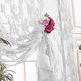 Vidillo Fadenvorhang, Fadenvorhang Schmetterling Glitzer 100 x 200 cm Elegant Wandvorhang Schaufensterdekoration, Dekorative Gardine Raumteiler Fliegenschutz für Balkontür, Fenster, Türvorhang (Weiß)