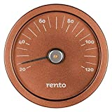 Rento - Sauna Thermometer - Aluminium - Copper Brown - 15x15x2cm