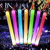 12Stück mit Schwamm Schaumstoff Leuchtstäbe, Mamum 12pcs Blinken LED-Licht-Effekt, hält Farbwechsel-Stab-Stroboskop