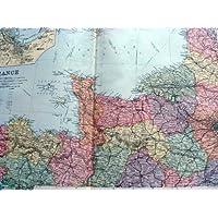 LE MAPPE 1893 GRANDE CHERBOURG DEL BACON DI NORD-OVEST DELLA FRANCIA