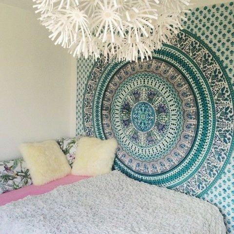Traditionelle Jaipur Twin Mandala Wandteppich, Motiv Indischer Elefant Wandbehang, Bohemian Pfau Bettwäsche, Hippie Schlafsaal, Zimmerdekoration Boho Picknick Werfen, Gypsy Beach Decke (Hippie Decke Werfen)