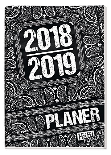 Häfft PLANER A5 2018/2019 [Black & White] Hausaufgabenheft/Schülerkalender/Schüler-Tagebuch/Schülerplaner