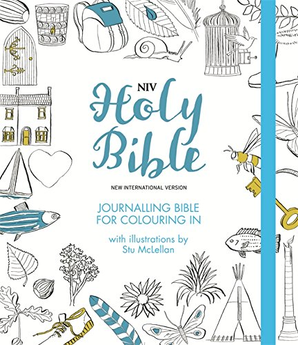 NIV Journalling Bible for Colouring In: With unlined margins and illustrations to colour in (New International Version) (Eden Shoes Uk)