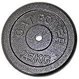 GAT SLIM Hantelscheibe 25 kg Hantel Scheibe Stahl Guss Gewicht 30 mm, 90002070 -