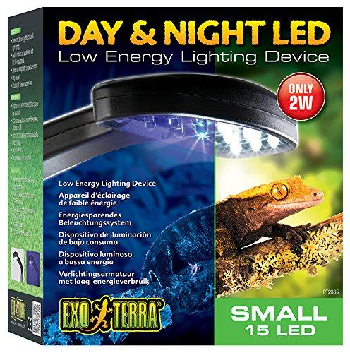 Exo Terra Tag & Nacht LED Beleuchtung, geringe Wärmeentwicklung. 15,5 x 18 x 8,5cm (BxHxT)