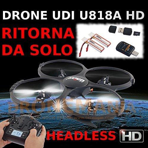Yacool® UDI U818A-HD 2.4GHz 4 CH 6 AXIS sin cabeza RC Quadcopter w/HD cámara,adicional batería y volver a casa Función
