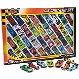 36 pc Druckguss Fahrzeugmodell gesetzt f1 Cabrio Rennwagen Kinder Spielzeug Spiel gesetzt 015930 -