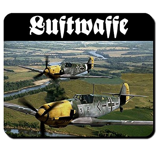Me 109 Luftwaffe Flugzeug Deutschland Jagdflugzeug Me109 Foto - Mauspad #10405