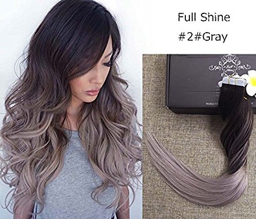 full-shine-16-zoll-50gram-20-stuck-dip-dye-human-hair-extensions-ombre-haarfarbe-2-dark-brown-fading