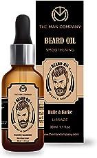 The Man Company Oil for Beard and Moustache Nourishment - 30 ml (Argan and Geranium)