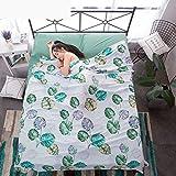 zlzty Outdoor Travel Tragbarer Hotelschlafsack aus Baumwolle, Spannbetttuch aus gebürsteter Baumwolle, Einzelbettbezug, Kingsize-Bettwäscheset @ R_200X215CM