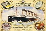 Titanic Vinolia Otto seife Soap schiff boot White Star Line metal sign deko schild blech projekt