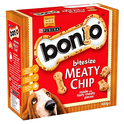 Bonio Purina Bitesize Meaty Chip Perro Perros Pasteles, 400g