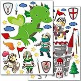 """Wandkings Wandsticker """"Ritter"""" Sticker Set - über 40 Aufkleber auf"""